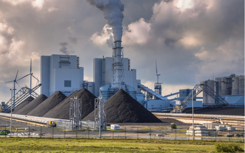 Coal accounts for much of the carbon emissions in generating electricity.