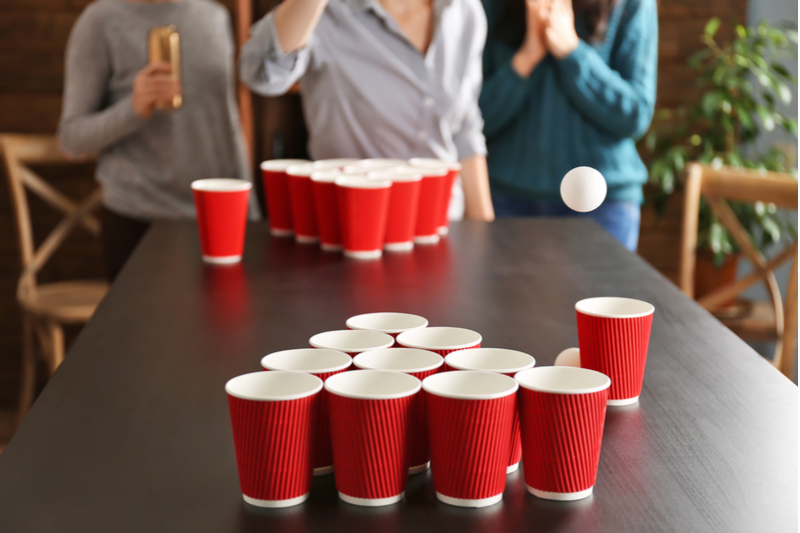 You can't be one of the best party schools without beer pong.