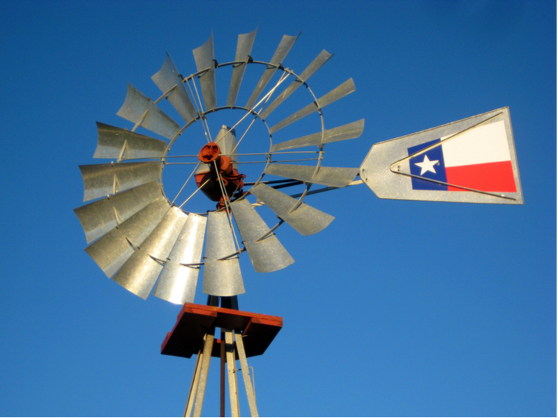Texas wind power leads the nation.
