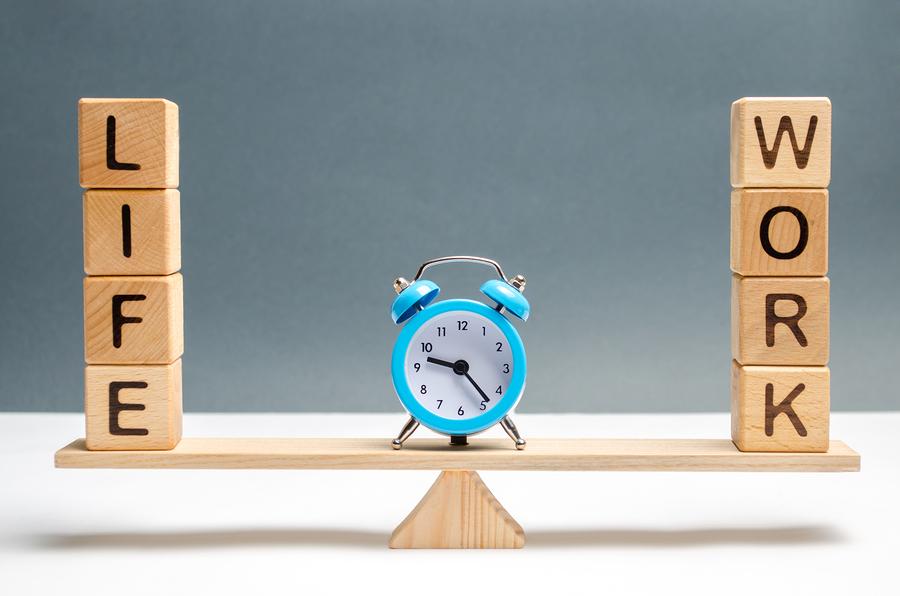 work-life balance scales