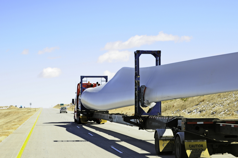Wind turbine blades are difficult to transport because of their size.