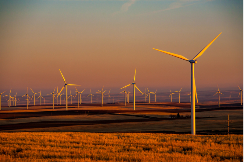 A new wind farm in central Texas may reduce carbon dioxide emissions.