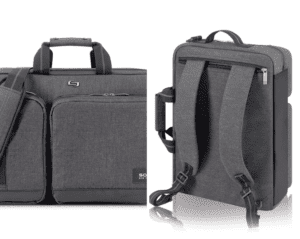 A briefcase/backpack hybrid is a great two-in-one product.