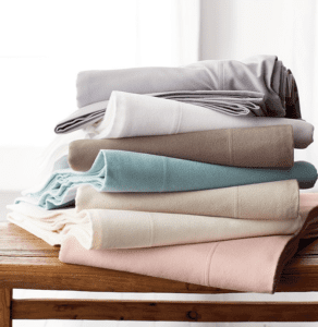 Flannel sheets can help save on your heating bill.
