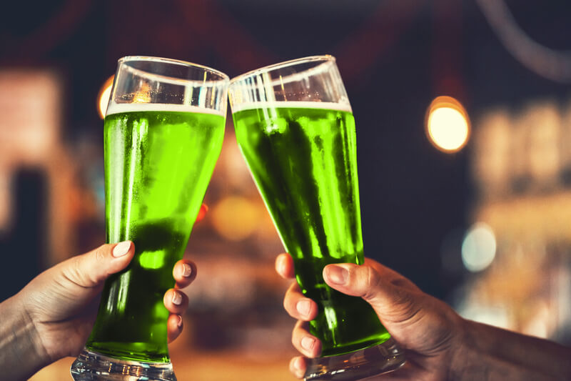 St. Patrick's Day is known for its green beer.